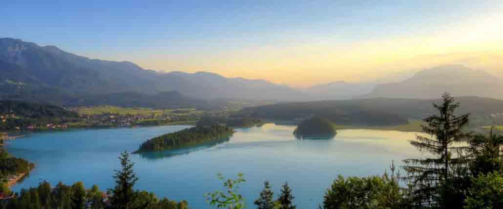 Blick auf den Faaker See vom Tabor