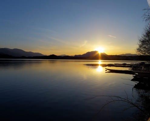 Dobratsch im Sonnenuntergang traumhafte Abendstimmung