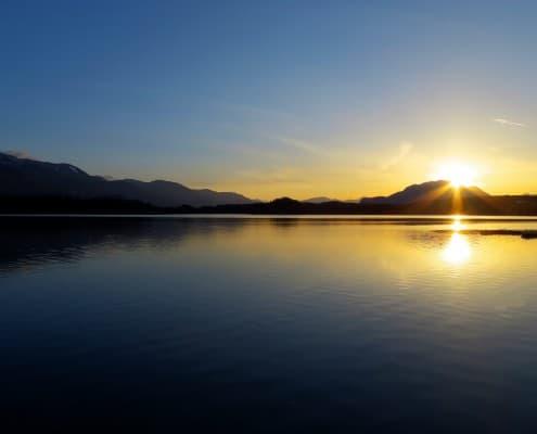 Faaker See im Sonnenuntergang