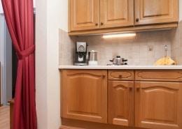 Küche im Apartment Abendrot