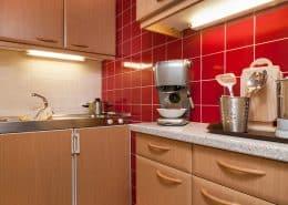 Küche im Apartment Berg und Seenwelt