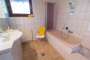 Badezimmer im Apartment Morgensonne