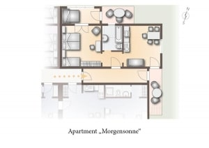 Grundriss Apartment Morgensonne