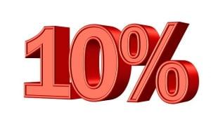 Bild mit 10 Prozent